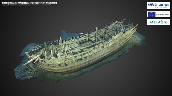 The Dalarö wreck/ Bodekull 3D Model