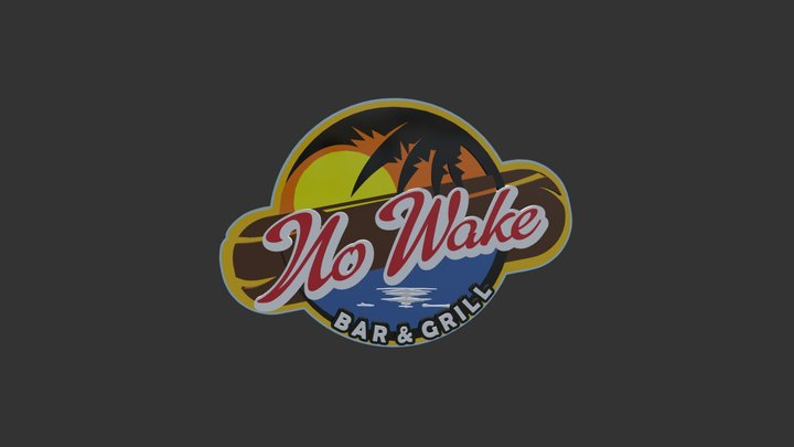 Now Wake Bar and Grill 3d Logo 3D Model