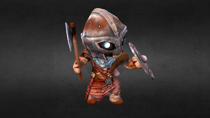 EINHERJAR Dead Warrior axe 英靈戰士 死靈戰士 小斧 3D Model