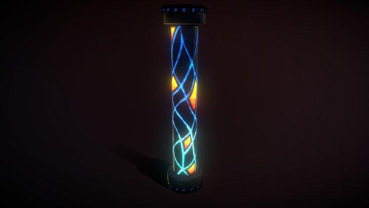 TemplePillar 3D Model
