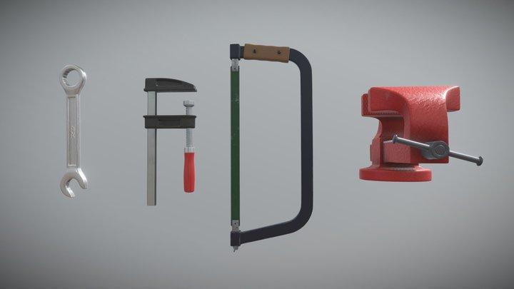 Workshop Tools & Stuff 3D Model