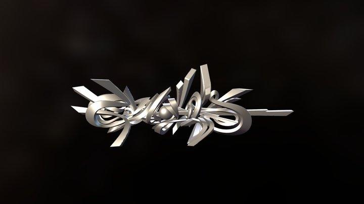 Genghis 3D Graffiti 3D Model