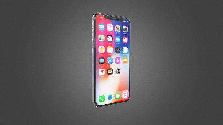 Apple iPhone X All colors 3D Model