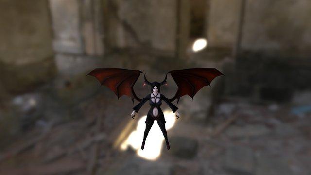 Zarah Winged 3D Model