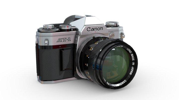Canon AT-1 Retro Camera 3D Model