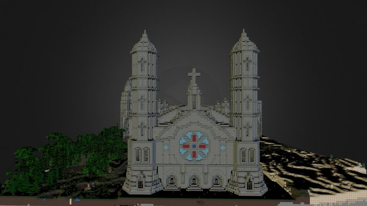 Cathédrale.obj 3D Model