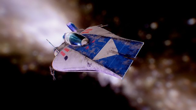 RZ-1 A- Wing Interceptor 3D Model