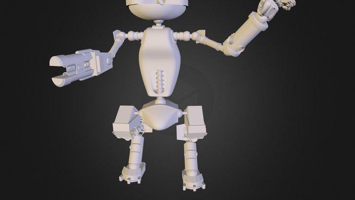 Gold Robot 3D Model