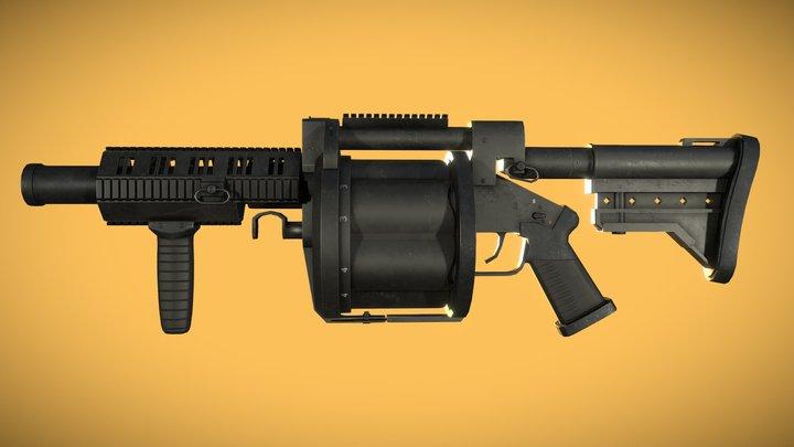 M32 MGL Grenade Launcher 3D Model
