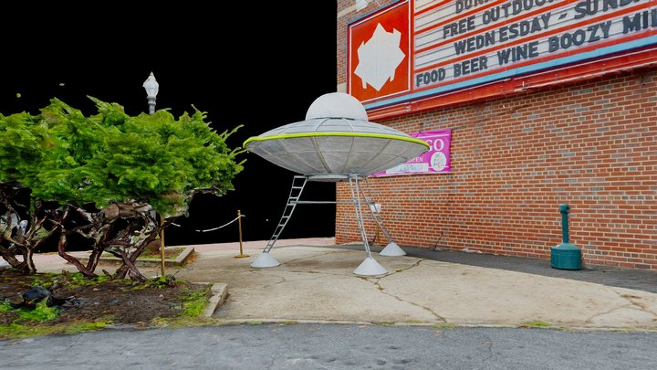 State Theater UFO 3D Model