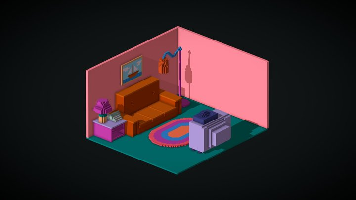 The Simpsons Living Room 3D Model