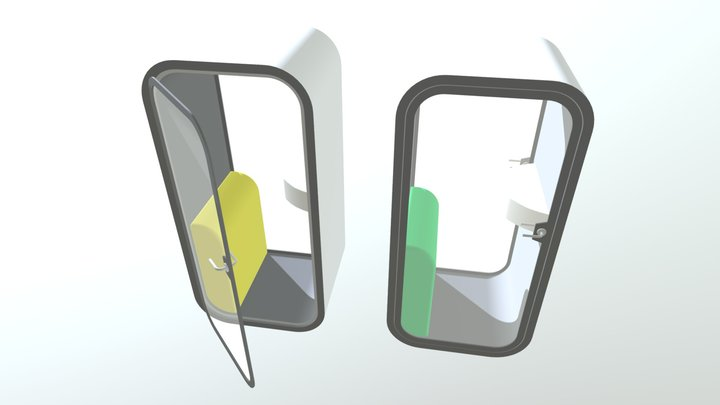 Phone Booth 2 3D Model