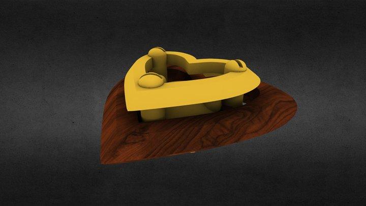 Iron heart pendant 3D Model
