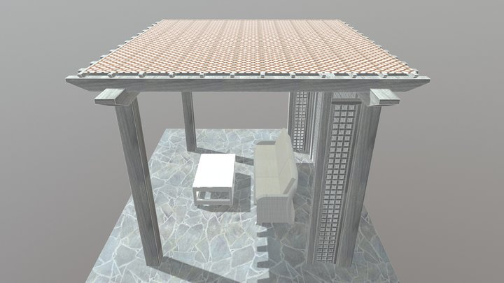 North Woods Pergola 3D Model