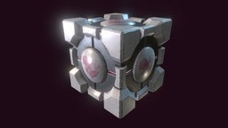 Portal Cube 3D Model