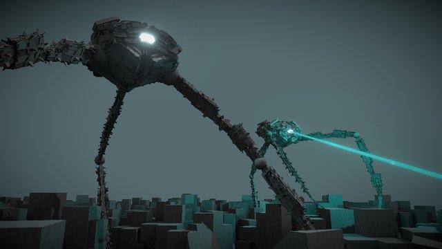 WAR OF THE TRIPODS 3D Model