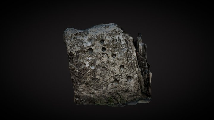 Clava Cairns SW Cup marked stone 3D Model