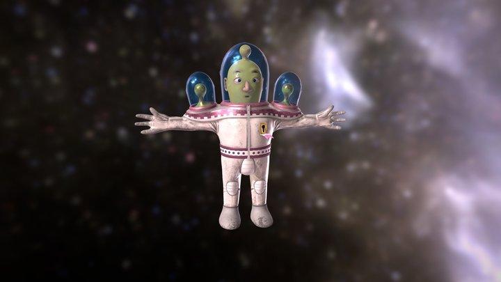 Alien in Spacesuit 3D Model