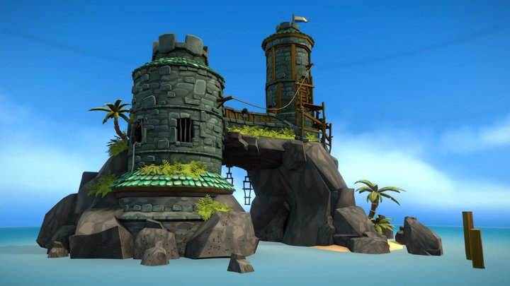 Navy Island - Fort Pratchett 3D Model