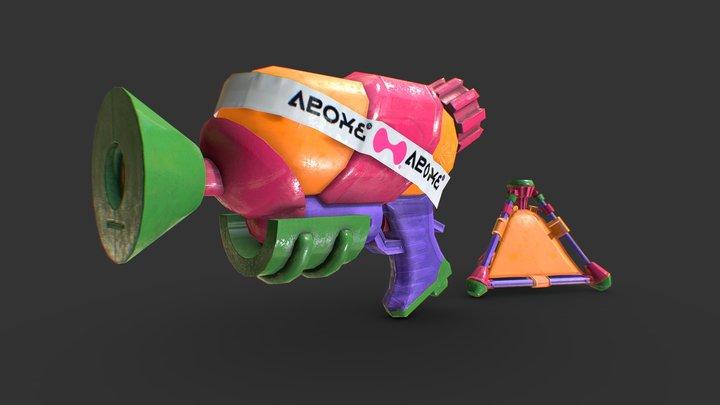 【Splatoon2】Tentatek Splattershot+Splat Bomb 3D Model
