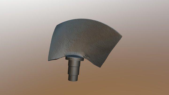 Water turbine blade 3D Model