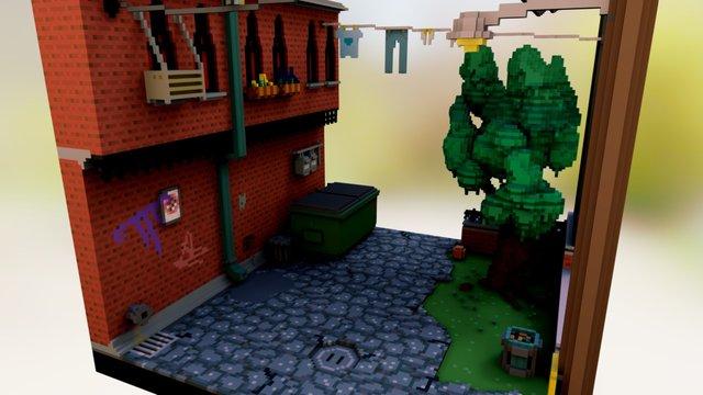 Alley 3D Model