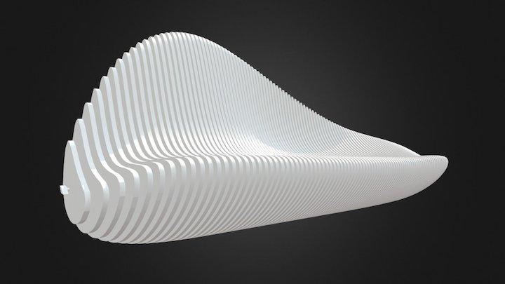 Parametric Bench 002 3D Model