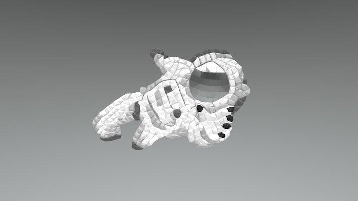 Fresque Astronaut 3D Model