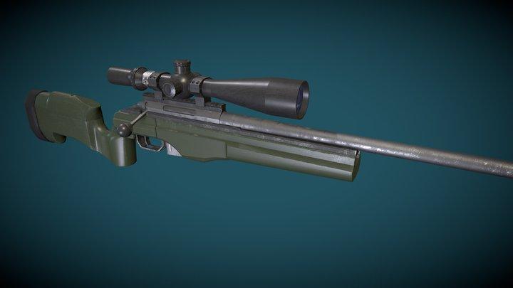 TRG-22 Sniper Rifle 3D Model