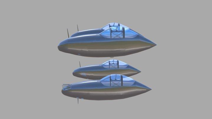P38 Blender 3D Model