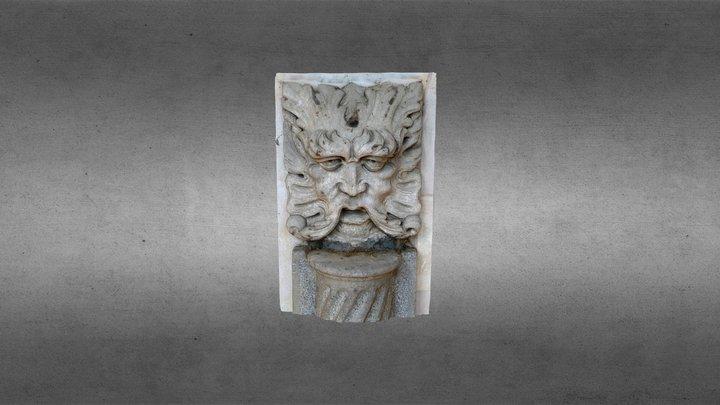 Maschera di fauno Villa Graziella Govone 3D Model