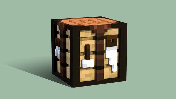 3D Crafting Table V2 3D Model