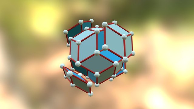 Dimpled Rhombic Triacontahedron - Construction 3D Model