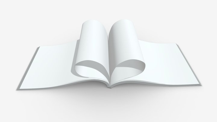 brochure opened size A5 3D Model