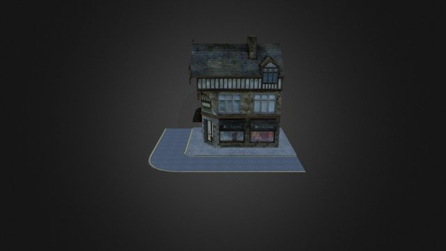Low Poly Building 3D Model for Video Game 3D Model
