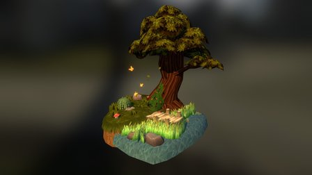 Patch Of Heaven - Forest Diorama 3D Model