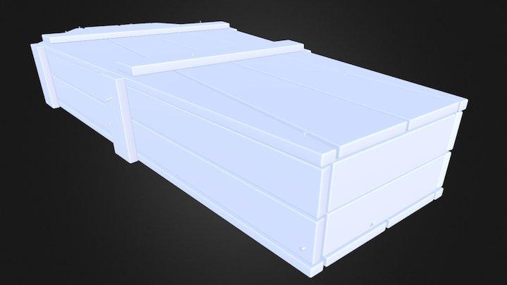 Old Western Coffin V2 3D Model