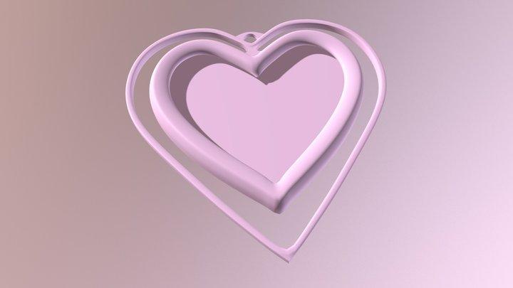 Heart Picture Frame 3D Model