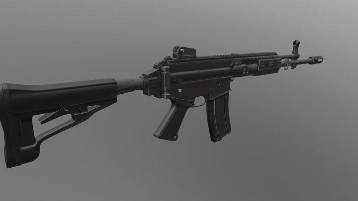 K2c1 korean rifle 3D Model