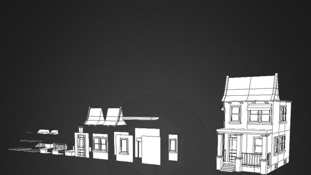 Low poly modular building WIP 3D Model