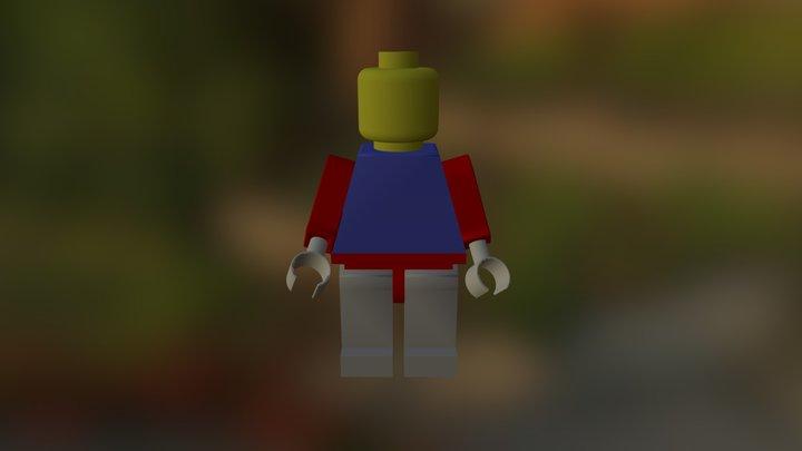 Lego Man Assembly Wo Umbrella 3D Model