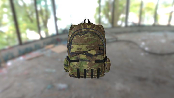 Backpack-1_steppe camouflage 3D Model