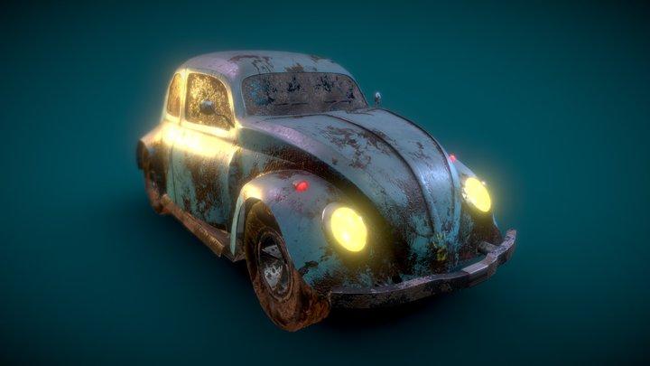Volkswagen Beetle Car 3D Model