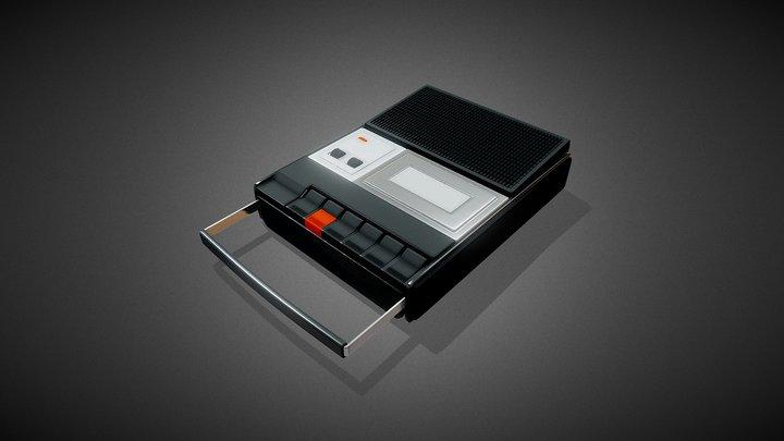 Cassette Recorder Proton - HiPoly Model 3D Model