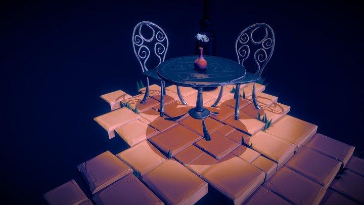 Café Corner 3D Model
