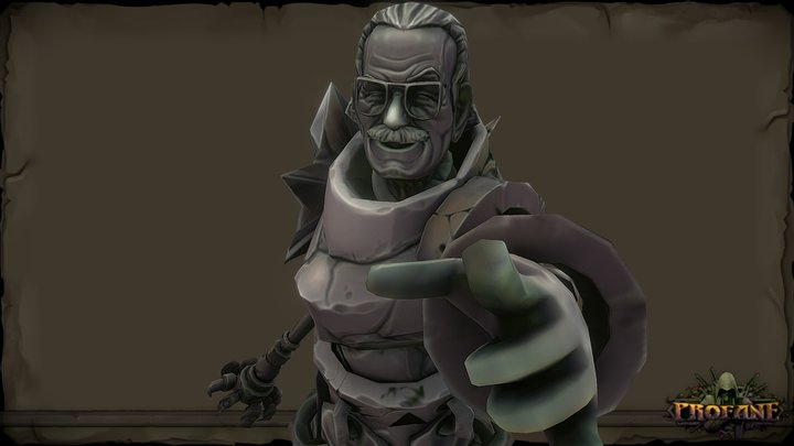 PROFANE - Stan Lee Tribute 3D Model