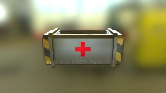 SciFi Crate 1 3D Model