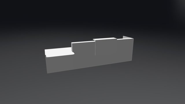 TRA41P Reception Desk 3D Model