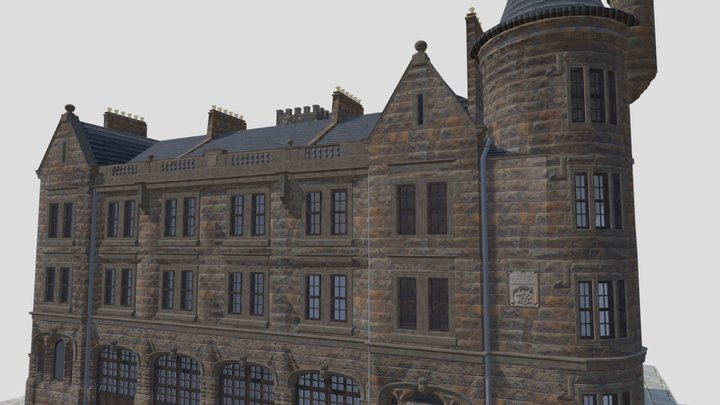 Paisley fire station 3D Model