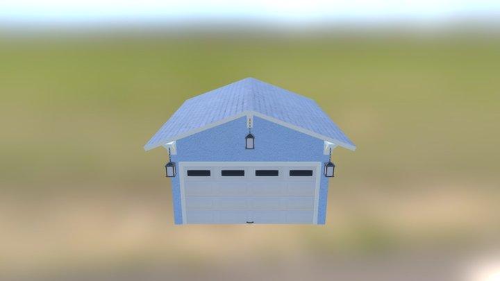 Freestanding Garage With Lantern 3D Model
